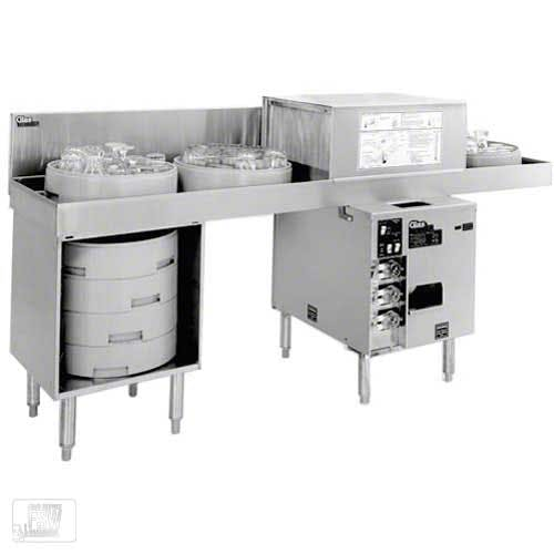 Glastender - GT-18+2-78L 600 Glass/Hr Pass-Through Rotary Rack Glasswasher Commercial dishwasher sold by Food Service Warehouse