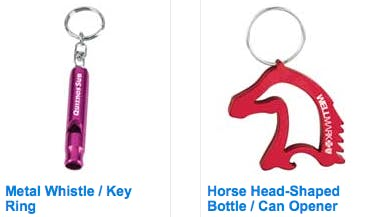 Bottle openers / key chains - sold by Luscan Group