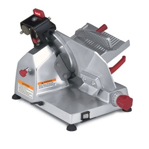 Berkel 825E-PLUS Entry Slicer, Manual Gravity Feed, 10 Inch Knife Meat slicer sold by Mission Restaurant Supply