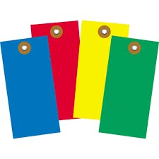 Colored Tyvek Tags Hang tag sold by Ameripak, Inc.