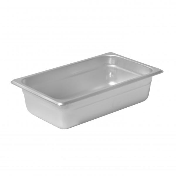 "2.5"" Fourth Size Stainless Steam Table Pan"