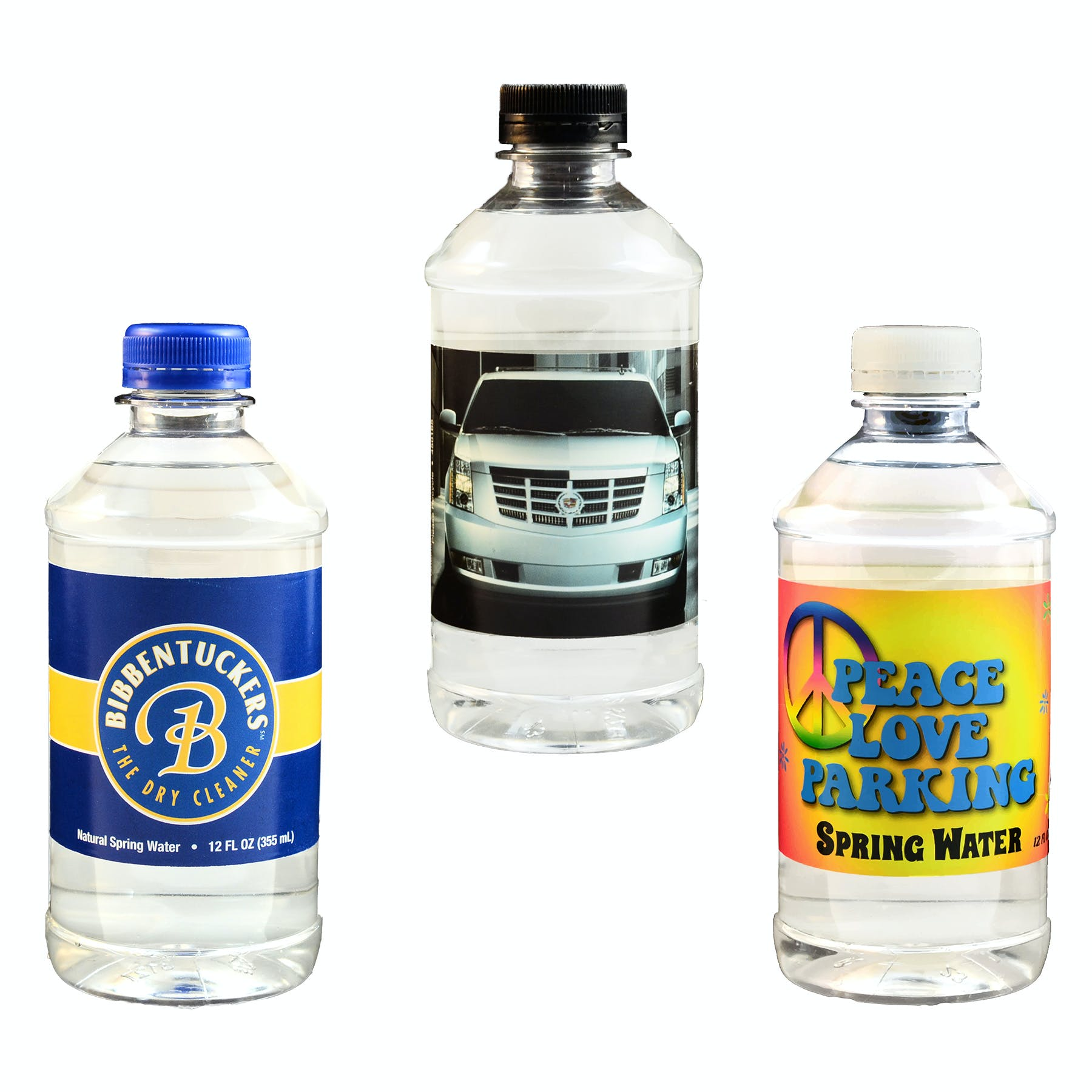 12 Oz. Custom Label Bottled Water (Item # NFNQR-HZJWS) Plastic bottle sold by InkEasy
