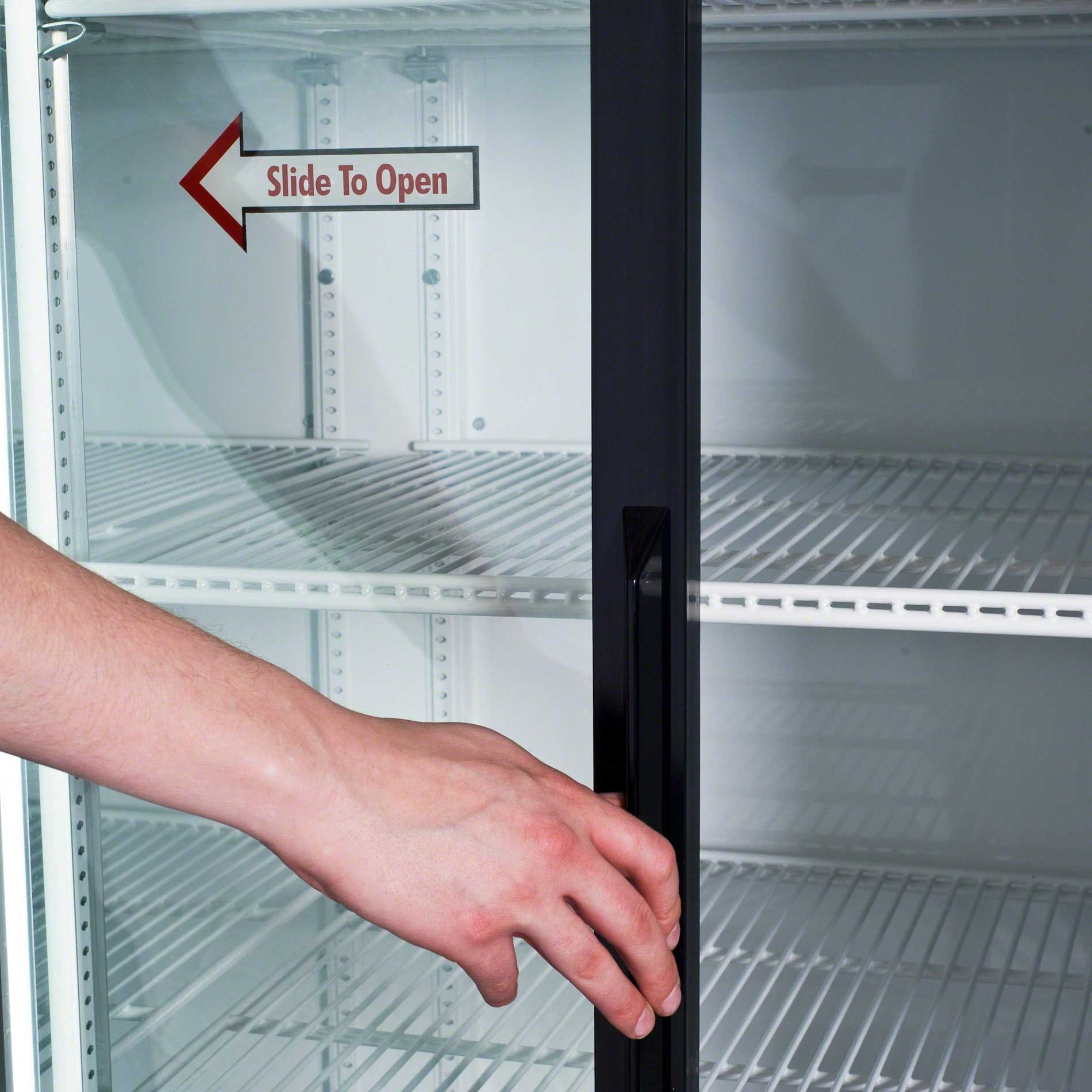 "True - GDM-69 79"" Slide Glass Door Merchandiser Refrigerator Commercial refrigerator sold by Food Service Warehouse"