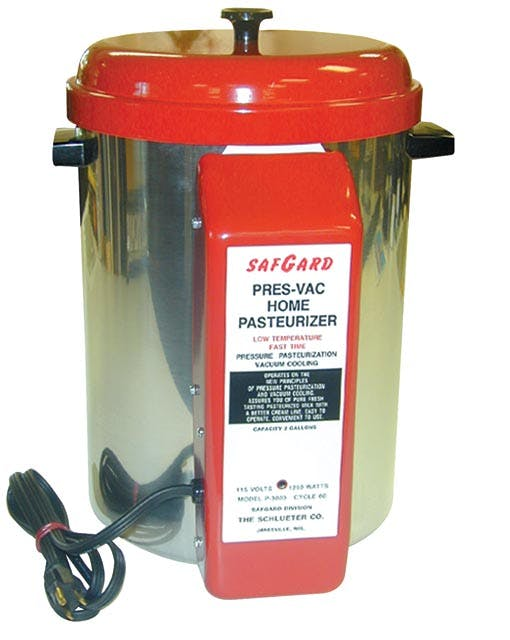 SafGard 2 Gal. Milk Pasteurizer--220V Pasteurizer sold by Farm and Ranch Depot