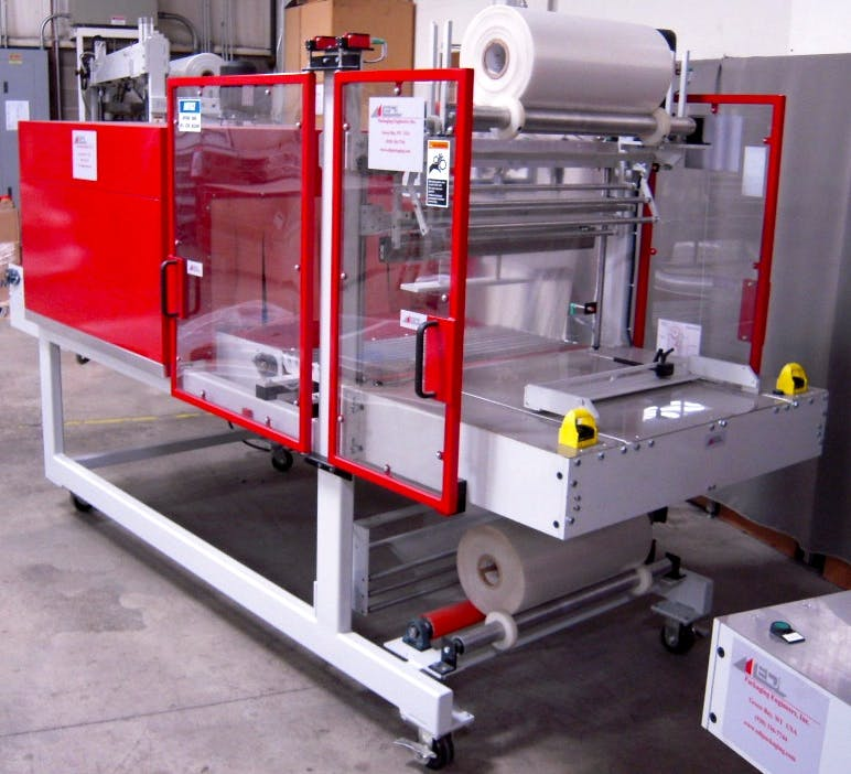 EDL SA 32-21 Shrink Bundler with 32-12-45 Tunnel Shrink wrapper sold by Sun Packaging Technologies