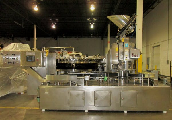 Used SIMONAZZI 72 Valve Bottle Filler with Alcoa Capper For Sale Bottle filler sold by SMB Machinery Systems