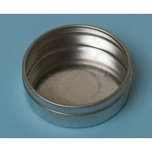1/2 Ounce Flat Round Bottom - Seamless Tin Can Metal tins sold by BASCO