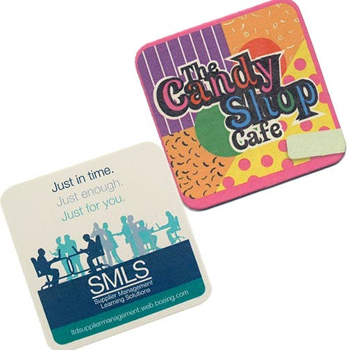 "Digital Printing, CoastersD-AS55-SQ, 45 pt., Natural 3.5"" Square, Digital Coasters Drink coaster sold by Distrimatics, USA"