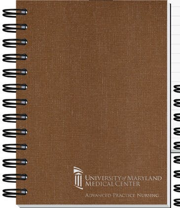 "Linen Impression Journals W/ Imprint On Every Sheet (5""X7"") Custom calendar sold by Dechan, Inc. II"