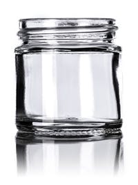 1 oz Clear Glass Straight Sided Jar 43-400 Glass Jar sold by BakerMan