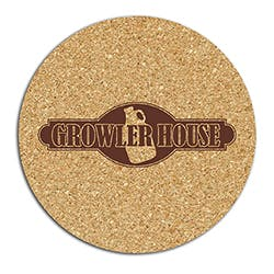 "King Size Cork Circle Growler Coaster (5.75"") Drink coaster sold by Worldwide Ticket and Label"