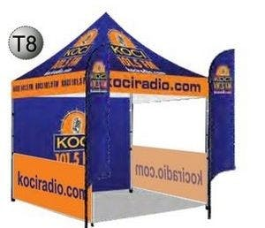10'x10' Tent with Flags, Back Wall, & Side Rails Promotional display sold by Custom H2Oh!