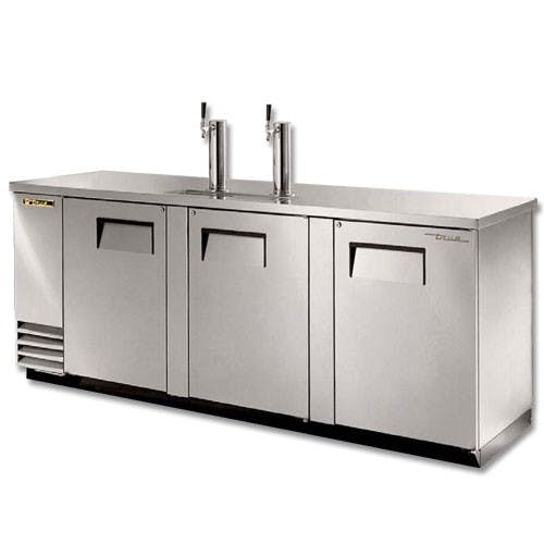 True Manufacturing TDD-4-S 4 Keg Direct Draw Beer Dispenser, Stainless Steel Kegerator sold by Mission Restaurant Supply