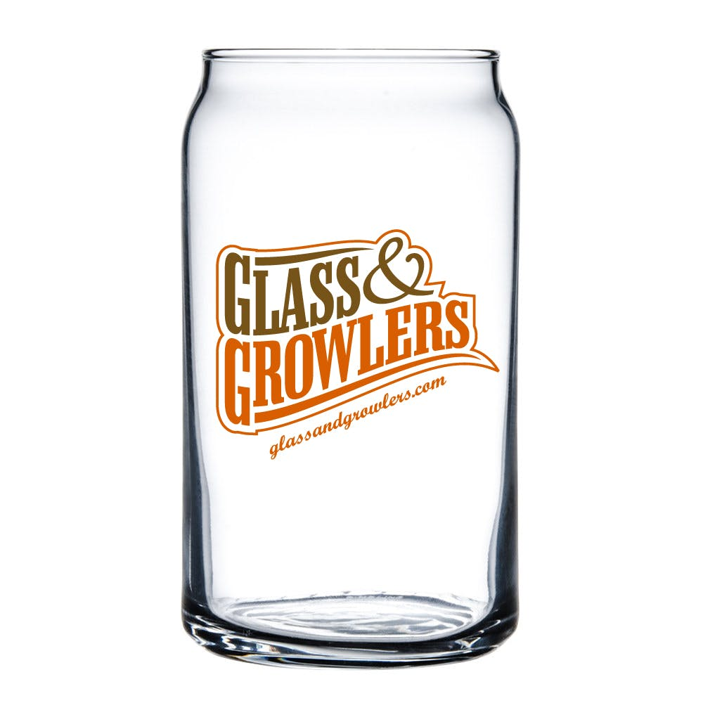 Can Glass 16 oz Beer glass sold by Glass and Growlers