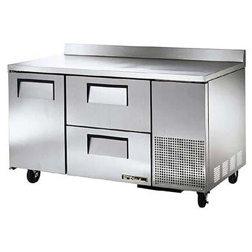 "True - TWT-60-32D-2 61"" Deep Worktop Refrigerator w/ Drawers Commercial refrigerator sold by Food Service Warehouse"