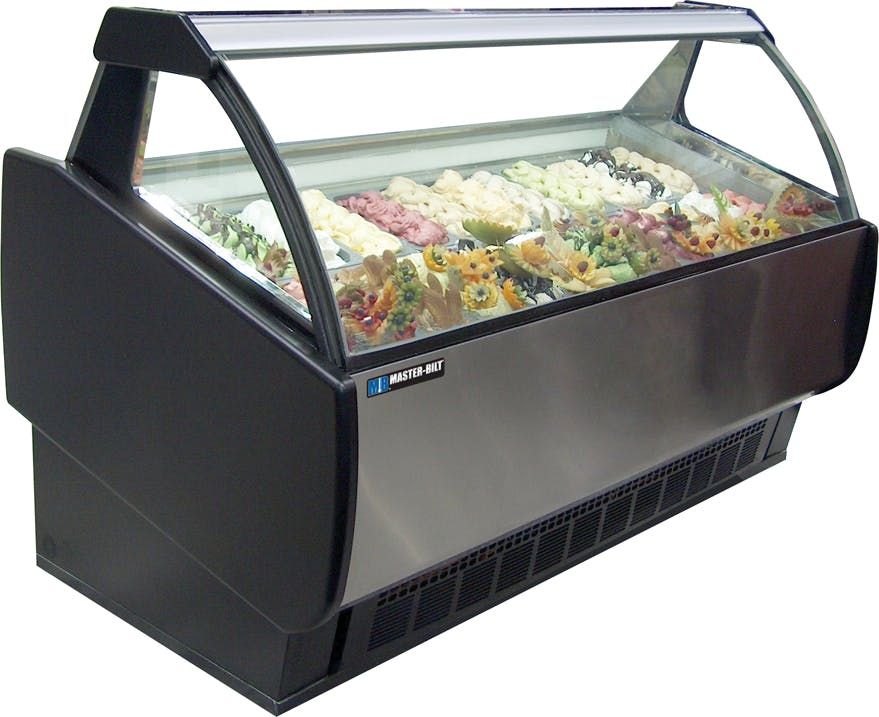 Master-Bilt GEL Series Gelato Merchandisers Ice cream dipping cabinet sold by pizzaovens.com