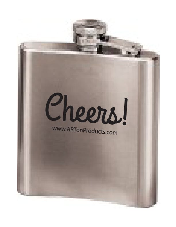 SNLW-6 - Stainless Steel 6 oz Flask Flask sold by ARTon Products
