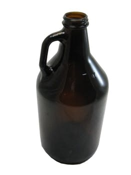 Wholesale Amber Growler Bottles - 64 oz Growler sold by Fillmore Container Inc