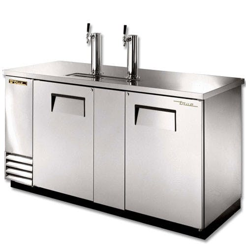 True Manufacturing TDD-3-S Keg Direct Draw Beer Dispenser, Stainless Steel Kegerator sold by Mission Restaurant Supply