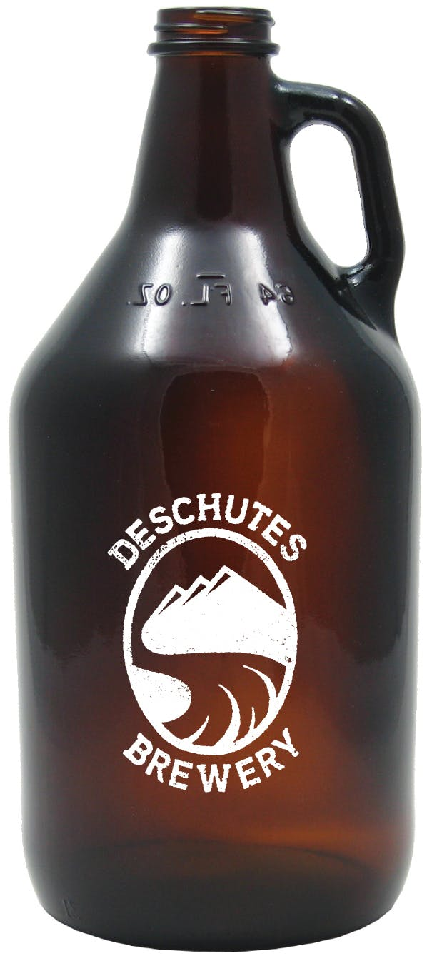 Amber Growler 64 oz Growler sold by Glass Tech