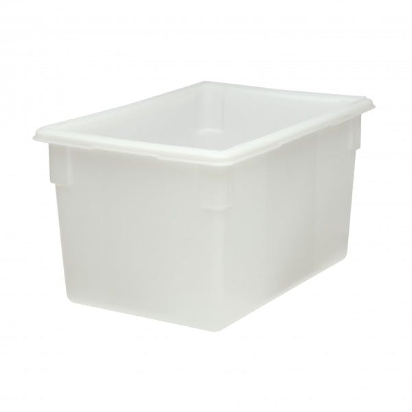 "18"" x 26"" x 15"" White Plastic Food Box"