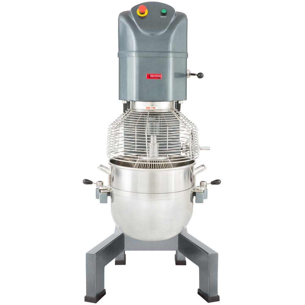 Avantco MX60 60 Qt. Gear Driven Commercial Planetary Floor Mixer with Stainless Steel Bowl Guard Mixer sold by WebstaurantStore
