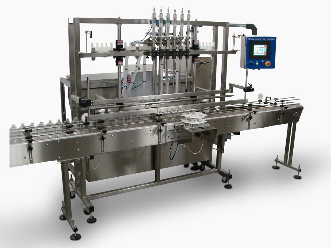 Servo Pump Filling Machine Bottle filler sold by Inline Filling Systems