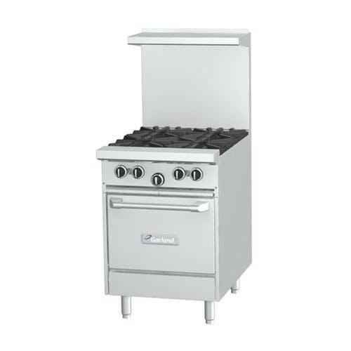 Garland G24-4S - 4 Burner Gas Range - (1) Storage Base Commercial range sold by Elite Restaurant Equipment