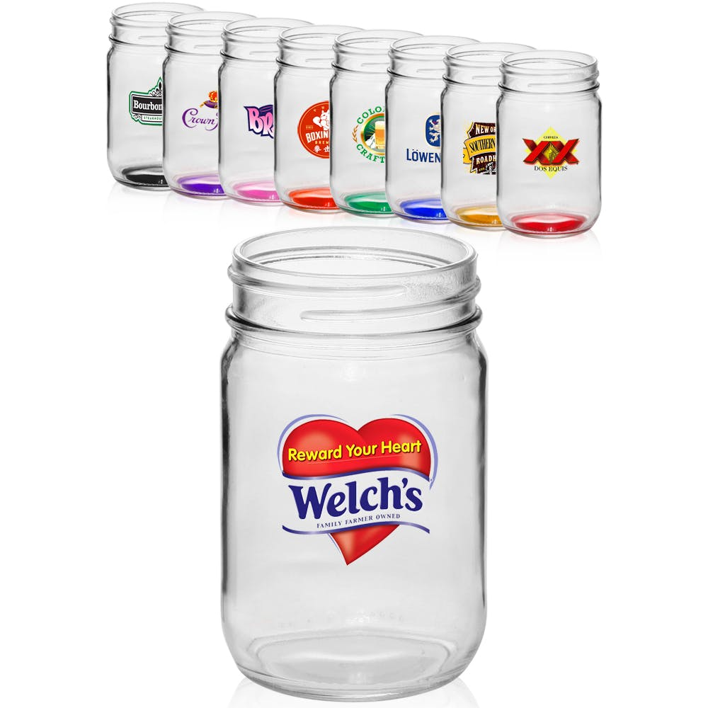 12 Oz. Mason Jar (Item # LHEOO-IUGYP) Glass Jar sold by InkEasy