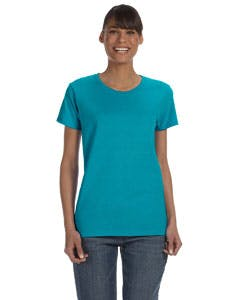 G500L Gildan Heavy Cotton™ Ladies' 5.3 oz. Missy Fit T-Shirt Promotional shirt sold by Lee Marketing Group