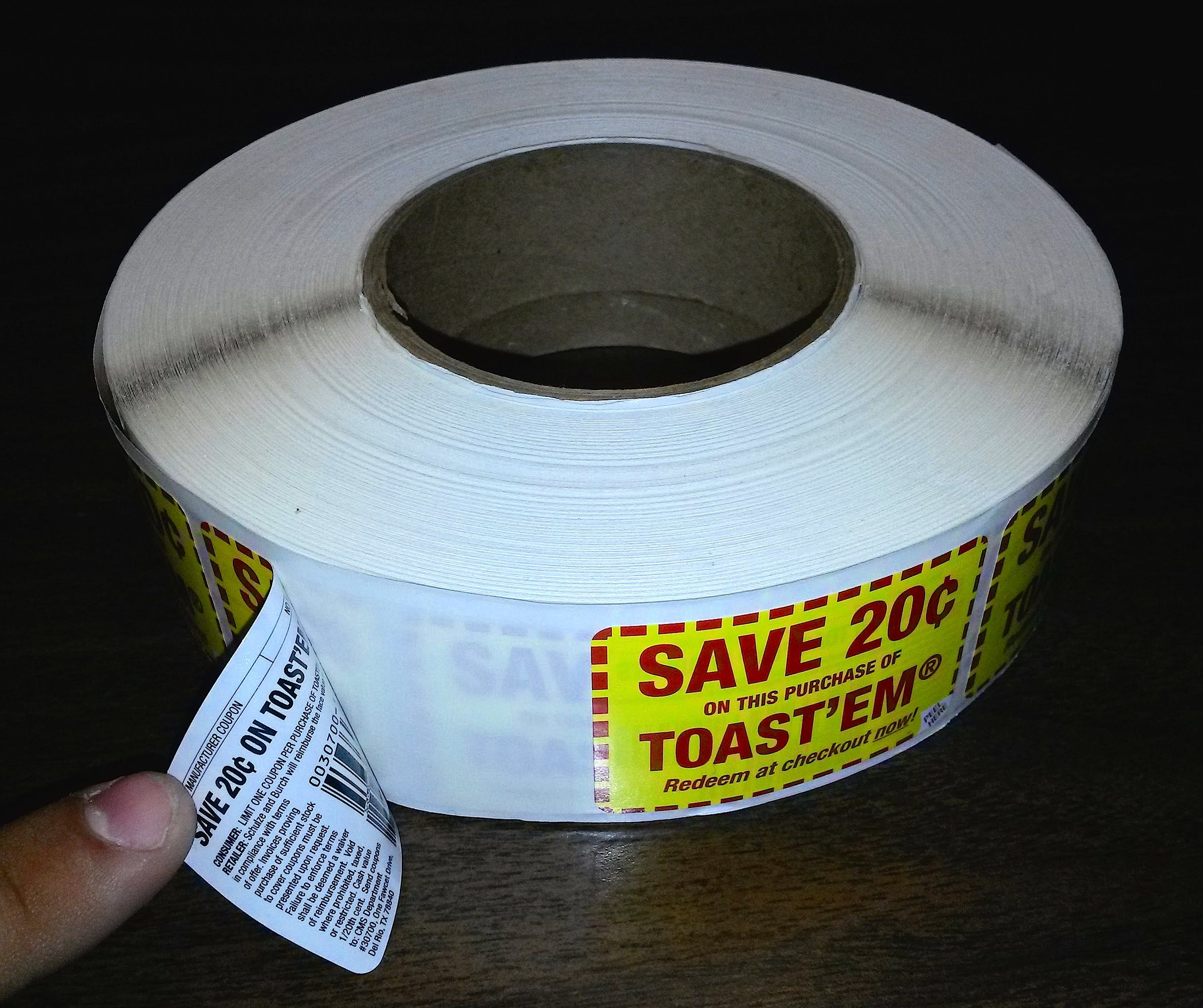 Coupon Labels Promotional sticker sold by InkWorks Printing