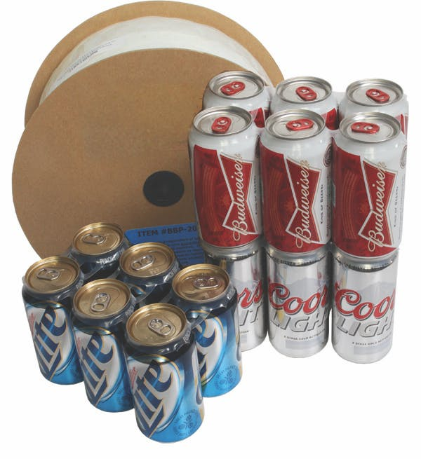 Universal 6 Pack Plastic Rings for Cans Can carrier ring sold by Pak-it Products