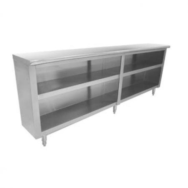 "Lite™ 72"" x 18"" Stainless Dish Cabinet w/ Mid Shelf"