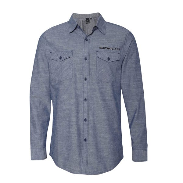 Burnside - Chambray Long Sleeve Shirt Promotional shirt sold by MicrobrewMarketing.com