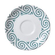 Verona Teal Evolution Spirale Saucers - sold by ANCAP USA