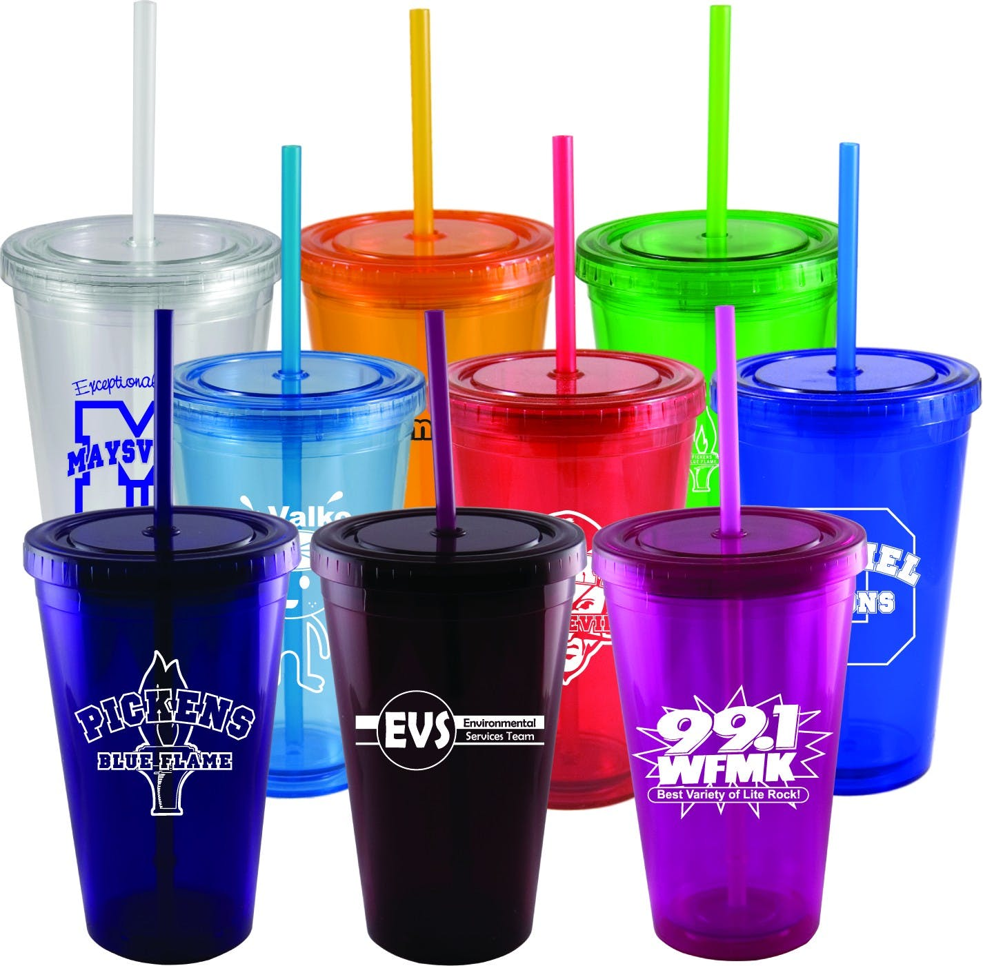 16 oz. Double Wall Tumbler Plastic cup sold by Prestige Glassware