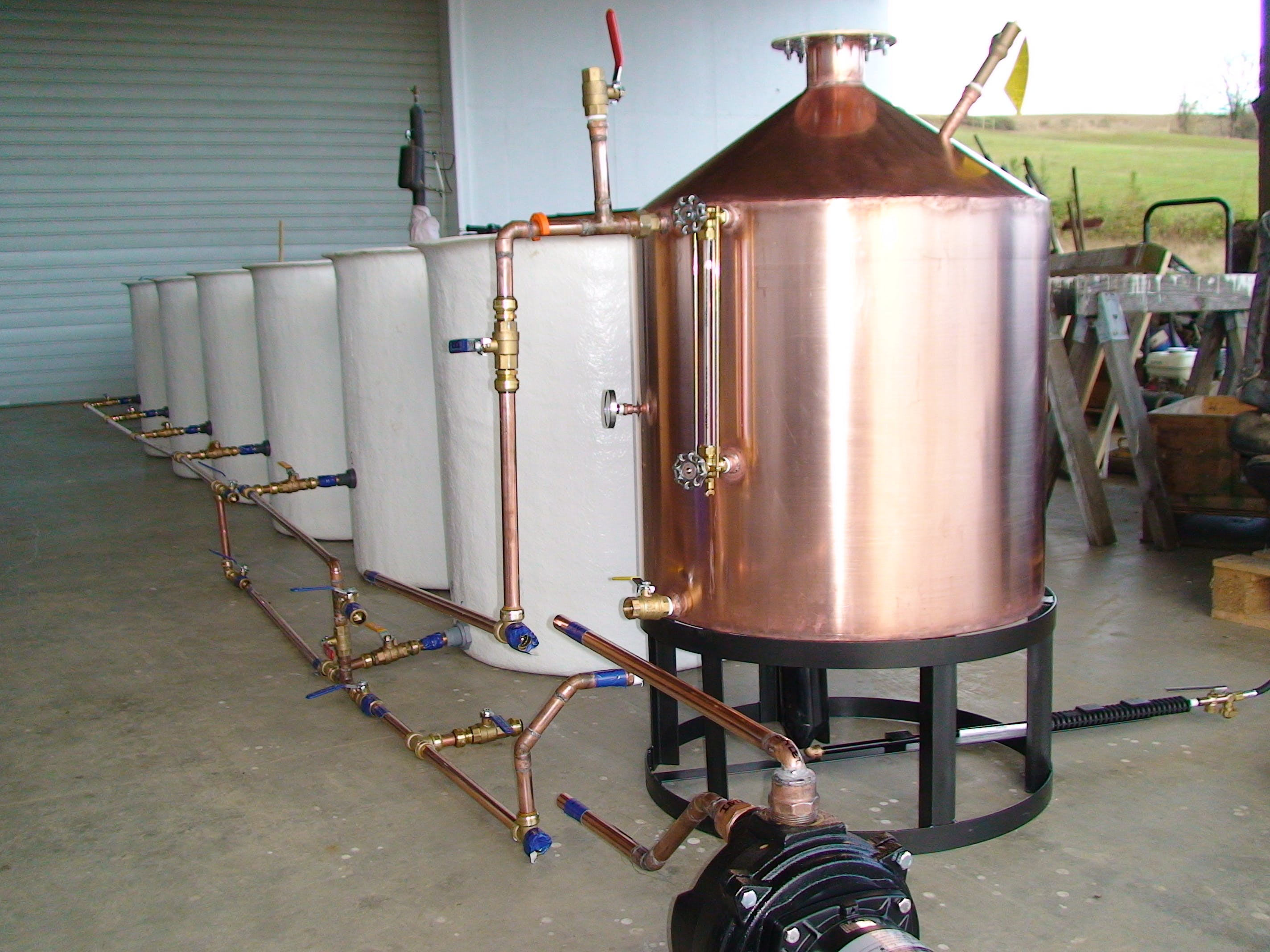 50 gallon propane system - All Copper alcohol distillers - sold by The Revenoor Company INC