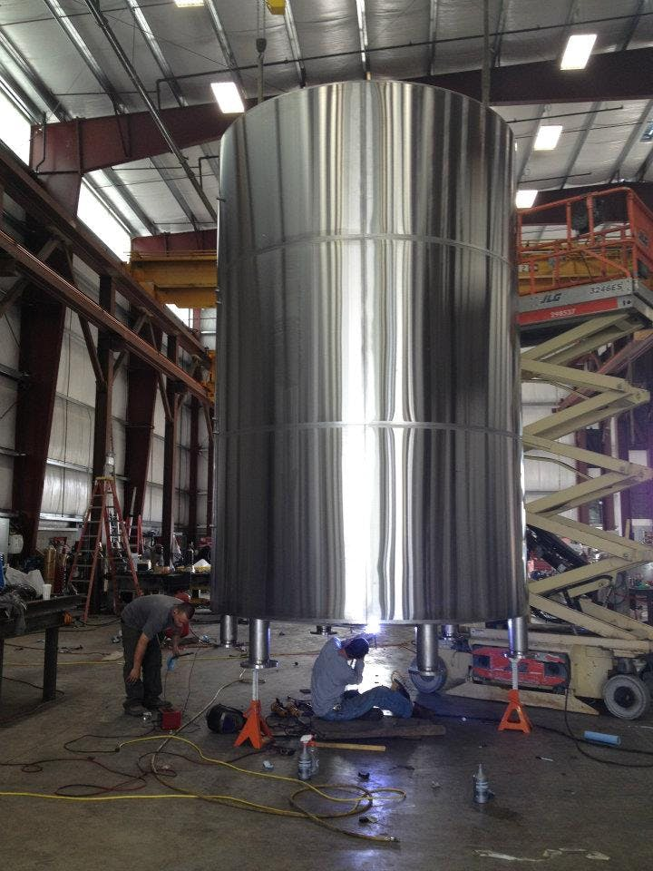 20 bbl brite tank - sold by Marks Design and Metalworks