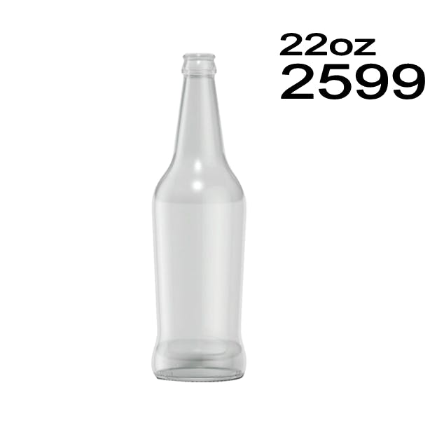 #2599 Curvy Beer Bottle Beer bottle sold by Wholesale Bottles USA