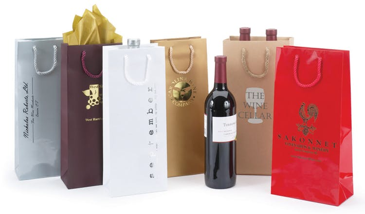 Wine Bottle Bags - Euro Totes Wine packaging sold by The Packaging Source, Inc.