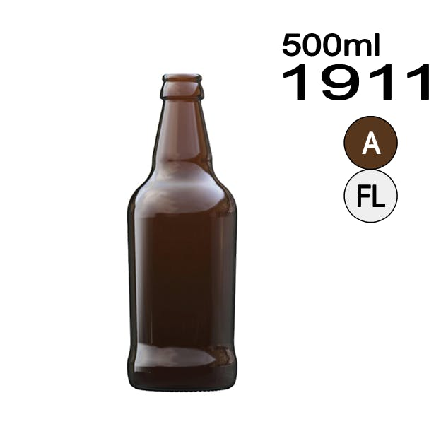#1911 Tapered Beer Bottle Beer bottle sold by Wholesale Bottles USA
