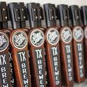 Stained handle with interchangeable logo - Tap handle sold by Switch Taps, LLC