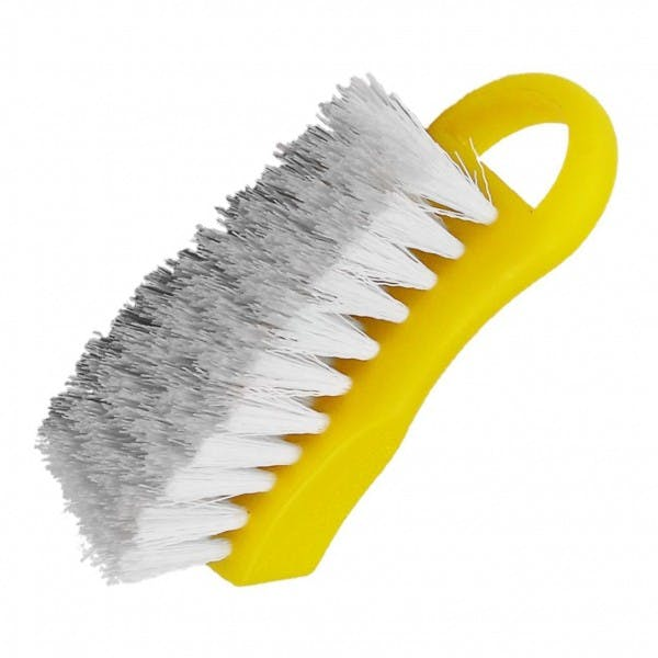 Yellow Plastic Cutting Board Cleaning Brush