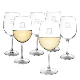 Personalized 12 oz. White Wine Glasses Wine glass sold by Bluegrass Barrels