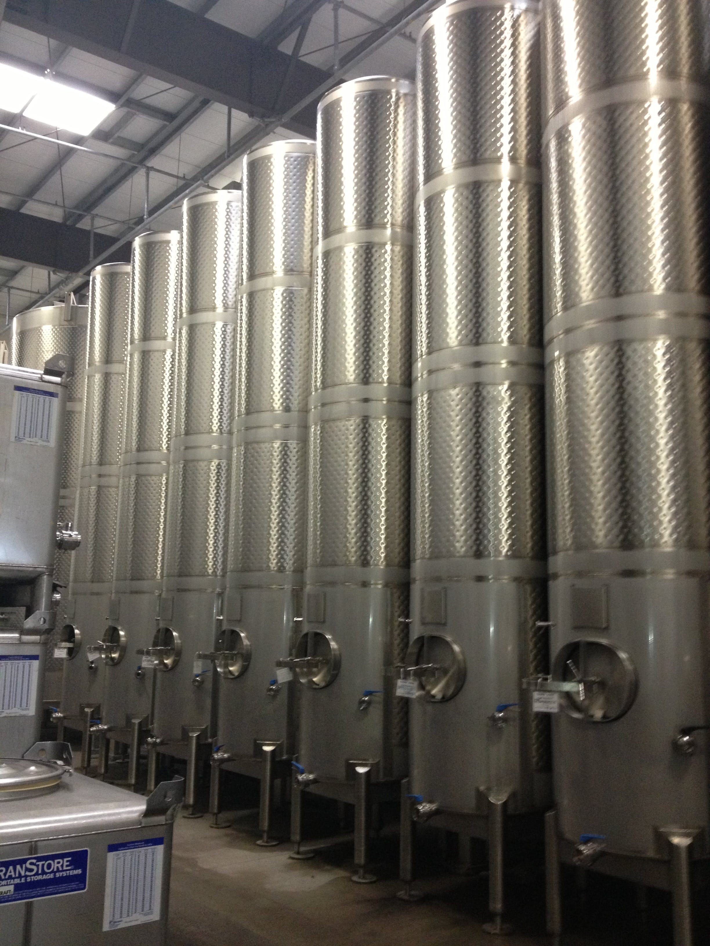 Wine tanks with dimple jackets  Wine tank sold by Hood-EIC, LLC Tank Division