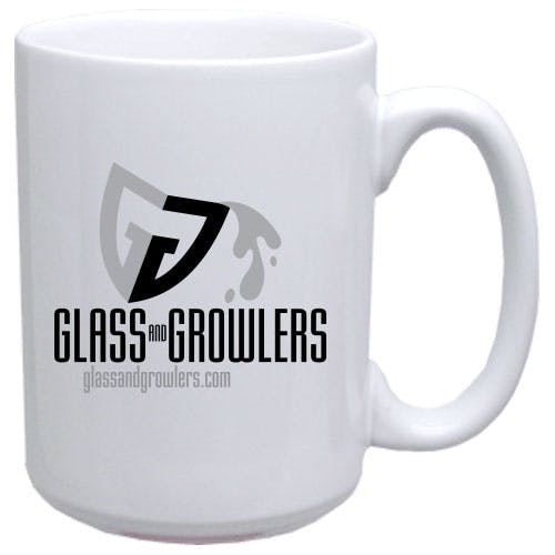 White El Grande Mug 15 oz Ceramic mug sold by Glass and Growlers