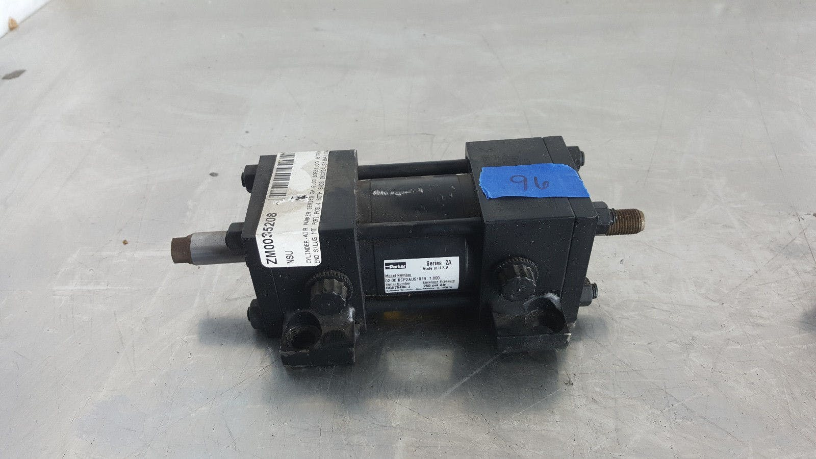 Parker Series 2A 02.00 KCP2AUS1819 1.000 250 Psi Air Pneumatic Cylinder New - B - sold by Jak's Restaurant Supply