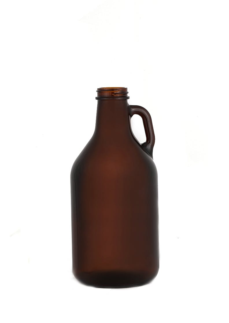 32 oz Beer Growler, Amber, Twist (C1009) Growler sold by WP Bottle Supply