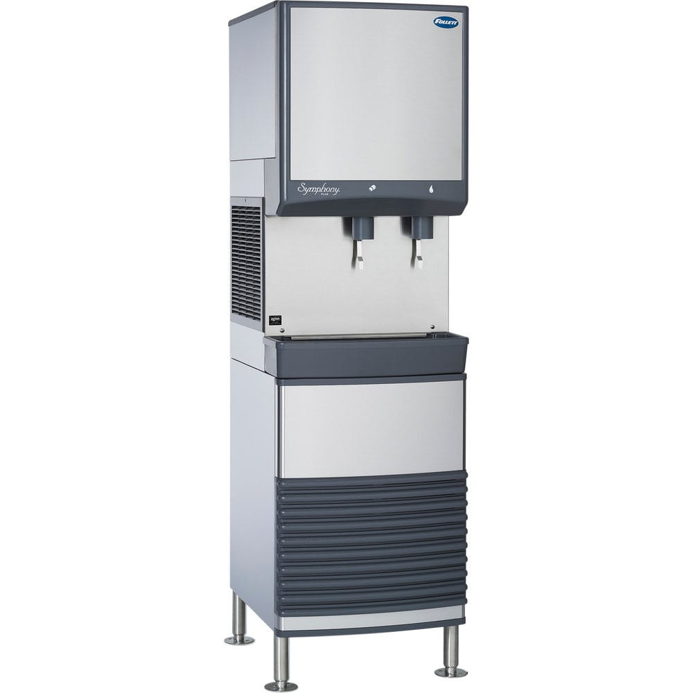 Follett 50FB425A-L 50 Series Air Cooled Freestanding Ice and Water Dispenser - 50 lb. Storage Ice machine sold by WebstaurantStore
