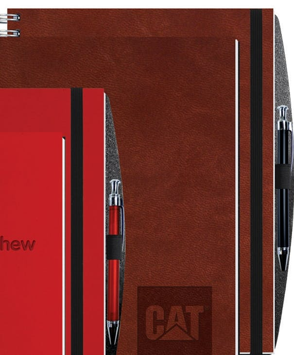 "100 Sheet Executive Journal, Pen Safe W/ Pen (8 1/2""X11"") Custom calendar sold by Dechan, Inc. II"